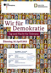 Plakat zur Veranstaltung Tag und Nacht der Toleranz